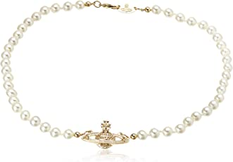 Vivienne Westwood 英国品牌 DIAMANTE ORB/PEARLS791516B/2项圈金色791516B/2