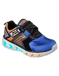 Skechers 斯凯奇 SKECHERS BOYS 系列 男童 Z型闪灯魔术贴运动鞋 90587