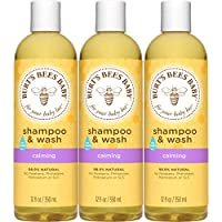 Burt's Bees 美国小蜜蜂 婴儿洗发水&沐浴露,舒缓无泪婴儿肥皂-12液体盎司/350毫升瓶装(3件)