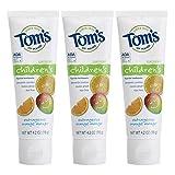 Tom's of Maine 儿童防蛀氟化物牙膏,香橙芒果味,3 支装(4.2 盎司)