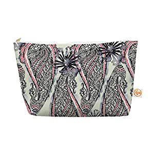 Kess InHouse Inky Paisley Bloom 12.5/7-Inch Everything Bag Tapered Pouch Sonal Nathwani (SN1005AEP04)