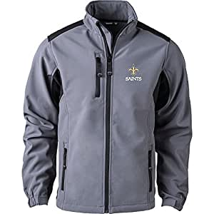 Dunbrooke Apparel NFL New Orleans Saints 男式软壳夹克,L 码,石墨色