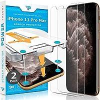 Power Theory 與 iPhone 11 Pro Max 屏幕保護膜兼容 - 適用于 Apple iPhone 11 Max Pro 的鋼化玻璃膜[2 件裝][適用于手機套]