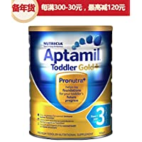(跨境自营)(包税) Aptamil 新西兰爱他美 金装 婴儿奶粉 3段 一岁以上 900g