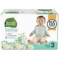 Seventh Generation Free and Clear Sensitive Skin Baby Diapers with Animal Prints 3 155