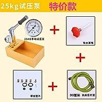 手动试压泵ppr水管打压机增压泵家用测压泵压力泵地暖检漏仪25KG泵标准款