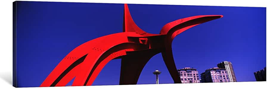 "iCanvasART 1 Piece Low Angle View of a Sculpture, Olympic Sculpture Park, Seattle Art Museum, Seattle, King County, Washington State, USA Canvas Print by Panoramic Images, 36"" x 12""/0.75"" Depth"