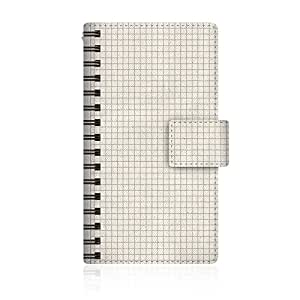 CaseMarket 【手册式】 SoftBank MEDIAS CH (101N) 超薄壳 针脚模型 [ 方格纸 笔记本 风格 日记本 艺术 图片 设计 ] 101N-VCM2S2467