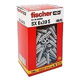 Fischer 542446 左侧螺丝钉,灰色,6 x 30 毫米,一套 100 个