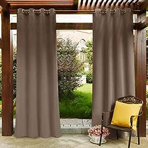 PONY 舞蹈户外装饰顶部孔环窗帘面板, sold AS 1面板。