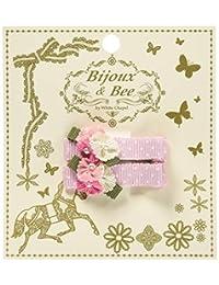 Bijoux & Bee(Bijoux &by) 小的大花发夹<日本制造> ピンク×マルチドット FREE