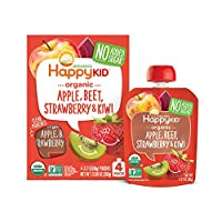 Happy Squeeze Organic 苹果草莓猕猴桃 幼儿零食辅食 不添加糖 Non-GMO 90g*16件装