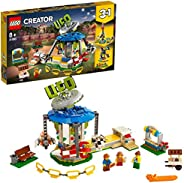 LEGO 31095 Creator 3 合 1 Fairground 旋转木马套装,公平乐趣冒险,空间主题模型