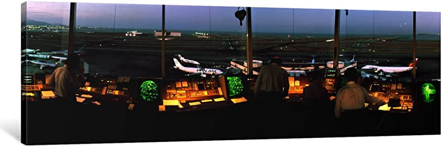 iCanvasART PIM1154-1PC6 San Francisco Intl Airport Control Tower San Francisco CA Canvas Print by Panoramic Images, 1.5 by 48 by 16-Inch