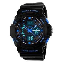 Skmei Day/Week Dual Time Display Analog Digital Mens Wrist Watch - GM5590BLU