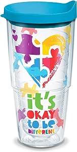 Tervis 隔热玻璃杯,带包装和盖子 透明 24oz - Tritan 1288311