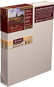 Masterpiece Monet Pro Canvas 4-Inch by 6-Inch, 12 Unprimed Cotton