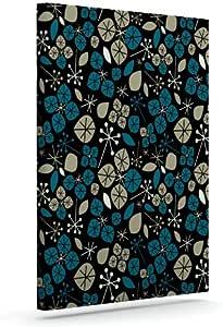 Kess InHouse Allison Beilke Leaf Scatters 午夜户外帆布墙壁艺术,60.96 x 76.2 厘米