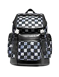 Coach蔻驰TERRAIN TREK 包带图案格子印花F11172 黑色古董镍色/深色多重支支格子