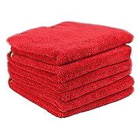 Chemical Guys MIC9976 Fluffer Miracle Supra超细纤维毛巾 红色  24英寸x 16英寸(6件套装)(亚马逊进口直采,美国品牌)