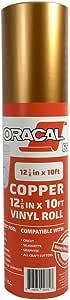 "Oracal 651 Rolls of Vinyl for Cricut、Silhouette、Cameo、Craft Cutter、打印机和贴花 - 光泽表面 - 户外和永久 铜色 12.125"" x 10ft 060-12inx10-OR"