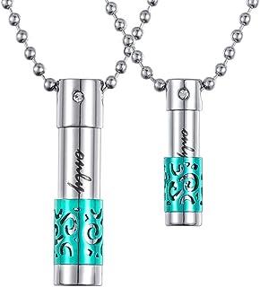 HooAMI Cremation Jewelry Only Love 香水瓶吊坠纪念城项链