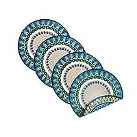 Villeroy & Boch 德国唯宝 Casale Blu棉质双面餐垫(4件套),15英寸/约38.1厘米圆形,多色