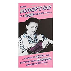 Hallmark 母亲标签卡 美丽, 英国文字 – M 码 Enjoy M