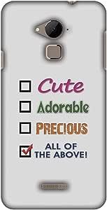 AMZER 纤薄手工设计师印花硬壳保护套适用于酷派 Note 3AMZ601040039165 可爱