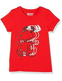 SNOOPY 史努比 女童 针织短袖T恤 KFS8M2KTKG1515RR