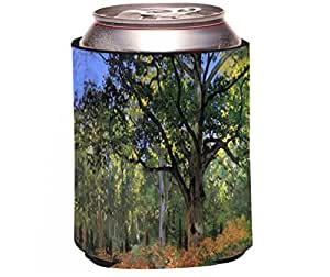 "Rikki Knight Claude Monet Art""The Bodmer Oak FontainBleau Forest"" Design Beer Can/Soda Drinks Cooler Koozie"
