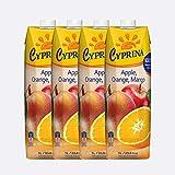 Cyprina塞浦丽娜牌苹果香橙混合果汁(含芒果果肉)1L*4(塞浦路斯进口)(特卖)