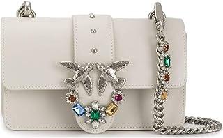 PINKO 女士 Love Mini Jewels C Vitello 套装 单肩包,6x12.8x20.8 厘米