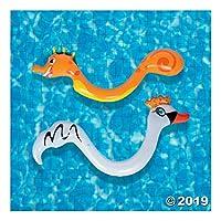 充气泳池床 - 动物形状 - 4 件