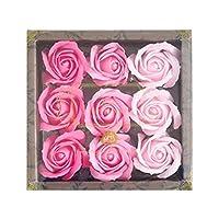 九州花朵服务花卉谷物泡澡剂 玫瑰香水9轮装 玫瑰色P 753206