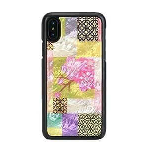 ikins iPhone X 天然贝壳壳 Cherry Blossom 黑色框架(ikins Cherry Blossom )iPhone 套 5.8英寸【日本正规代理店商品】 I10989i8