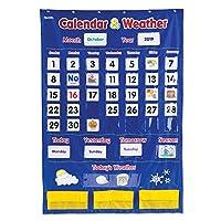 Learning Resources 袖珍日历天气表,教室组织,136件