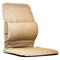 Mc Carty's Sacro-Ease Deluxe Model Lumbar Seat Support with Extra Padding, 15-Inch Wide, Light Brown