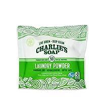 Charlie's Soap 无香洗衣粉洗衣粉,50次 无香 1包