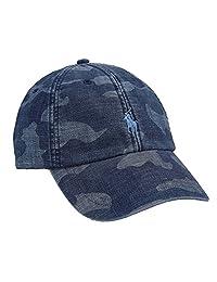 Polo RL Men's Camo Print Canvas Baseball Cap Hat