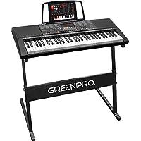 Click N' Play Greenpro 61 键便携式电子键盘 Full Keyboard