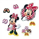 孩派 正品迪士尼卡通米奇貼紙 可愛兒童房背景裝飾牆紙 米妮 (MM032)