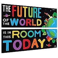 Sproutbrite 课堂欢迎横幅和海报装饰品 适用于中小学