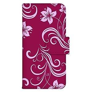 智能手机壳 手册式 对应全部机型 印刷手册 wn-631top 套 手册 花朵图案 UV印刷 壳WN-PR433556-L Galaxy S6 edge+ 图案D