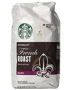 Starbucks French Roast Whole Bean Coffee星巴克法式深度烘培咖啡豆, 2.5磅