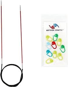 knitter's Pride Zing 固定编织圆针47厘米 with 10artisga 工艺品 stitch 马克笔