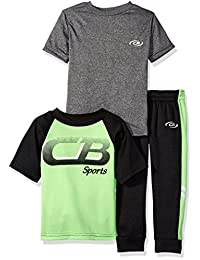 CB Sports 男孩 3 件运动T恤和羊毛裤