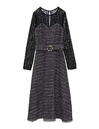 Lily Brown L.B CANDY STOCK蕾丝组合粗花呢*款连衣裙 LWFO195806 女款