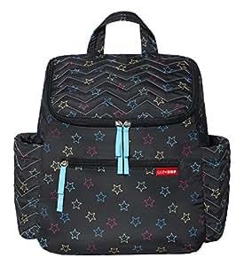 【金秋出行直降】美国Skip Hop 5*妈妈包(双肩包)-彩色星星SH333802