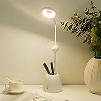 『环形照明充插两用』英国Ant life 创意LED可充电usb笔筒风扇台灯 时尚简约学习阅读无极调光风扇笔筒LED护眼台灯 (风扇笔筒台灯1件)